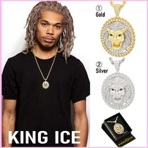 King Ice(キングアイス) ネックレス・ペンダント 送税込【King Ice】ROARING LION MEDALLION NECKLACE(2色)国内発
