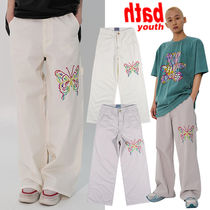 ★YOUTHBATH★送料込み★韓国★大人気★WHITE PANTS_BUTTERFLY