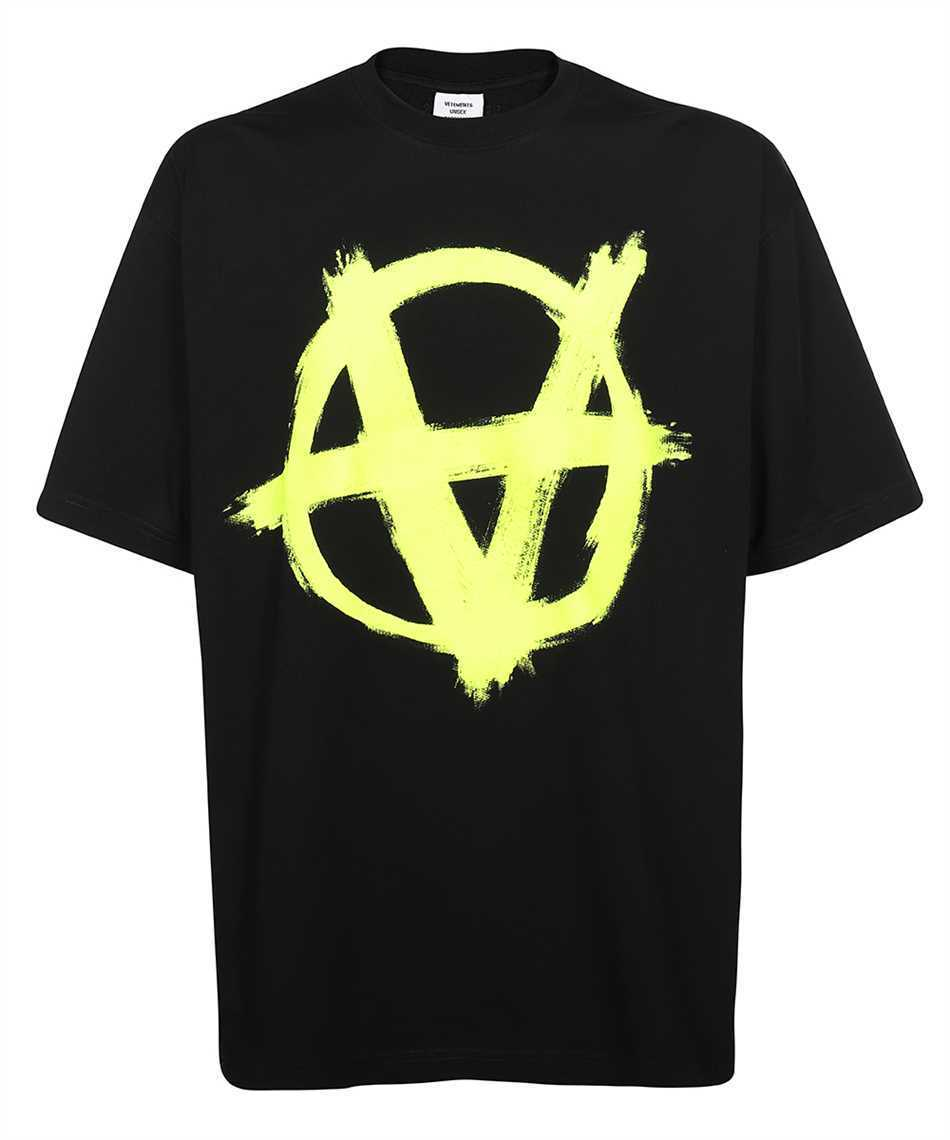 【21AW】Vetements UA52TR490Y DOUBLE ANARCHY LOGO T-shirt (VETEMENTS/Tシャツ・カットソー) UA52TR490Y BLACK / NEON YELLOW