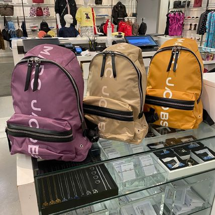 MARC JACOBS ロゴ プリント ナイロン バックバック 新作カラー♪