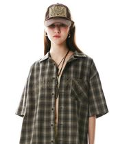 SCULPTOR(スカルプター)★Grunge Ombre Check Shirt(2色)