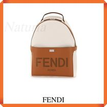 Fendi Essential Backpack In Canvas And Leather
