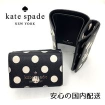 kate spade☆ドット柄 コンパクトウォレット☆送込