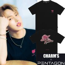 Charm's(チャームス) Tシャツ・カットソー ★CHARM'S★[CHARMS X PENTAGON KINO] FLOWER T-SHIRTS