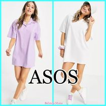 【ASOS】ポロシャツワンピース / Lilac White