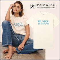 〈21SS〉Sporty&Rich - Be Nice Tシャツ ミルク *関税込