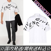 Sale★GIVENCHY★REFRACTED ロゴ プリント シャツ 白 関税込