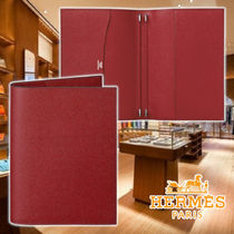 HERMES 21AW Globe-Trotter diary cover Rouge Leather 手帳