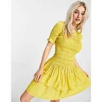 ASOS♡送料込 Y.A.S Petite mini dress with shirred top