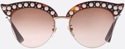 GUCCI★CAT EYE SUNGLASSES WITH PEARLS