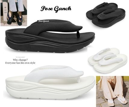 POSE GANCH [AliceFunk Pick] MIGHTY Cream and Black サンダル