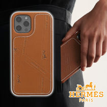 HERMES 21AW Bolduc case with MagSafe Fauve Leather ケース
