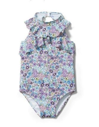 【Janie and Jack】ベビー★DITSY FLORAL RUFFLE水着70-90