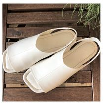 """""""COS"""" LEATHER OPEN-TOE SANDALS OFF-WHITE"""