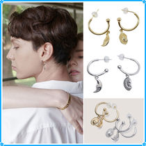 【Aphrose】Sun and Moon Ring Drop Earrings~ピアス★ITZY着用