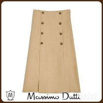 MassimoDutti♪VENTED SKIRT WITH BUTTONS