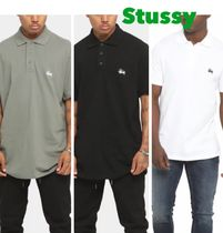 【STUSSY】Authentic Polo 半袖 シンプル ロゴ ポロシャツ 緑