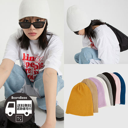 Raucohouse COLOR RIBBED COTTON BEANIE BBH1786