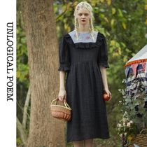 Embroidery Lace Dress*フェミニンで可憐な印象に*