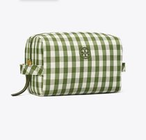 Tory Burch(トリーバーチ) メイクポーチ Tory Burch PIPER GINGHAM LARGE COSMETIC CASE