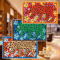 【HERMES】21AW Beach mat In the jungle 3colors cotton タオル