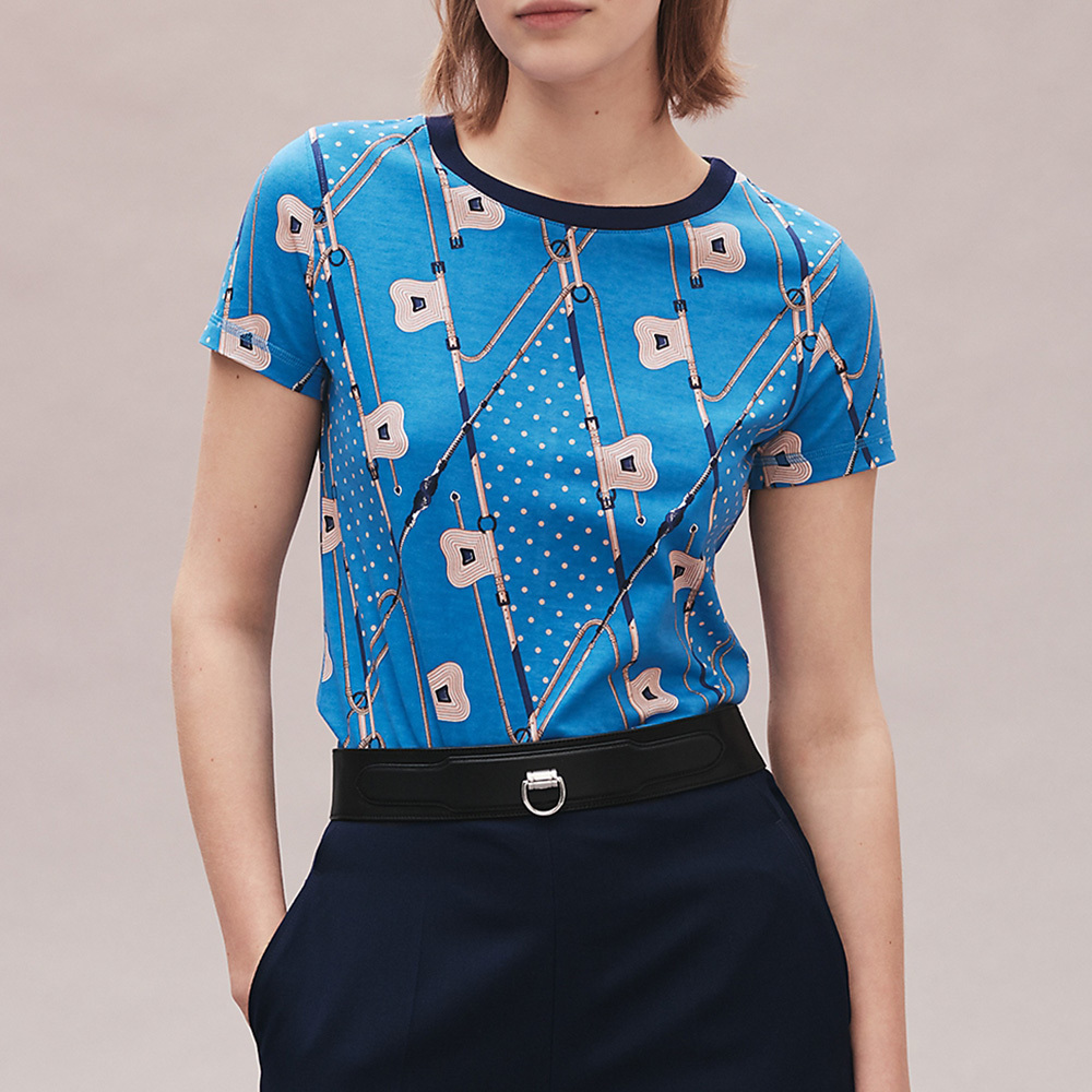 HERMES(エルメス)2021AW「Clic Clac a Pois Losanges」Tシャツ (HERMES/Tシャツ・カットソー) H1H4616DDT534