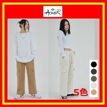 [ACOVER] WIDE CARGO BANDING PANTS/5色/兼用/追跡付