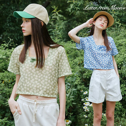 [LETTER FROM MOON] Daisy Square Neck Ribbon ブラウス