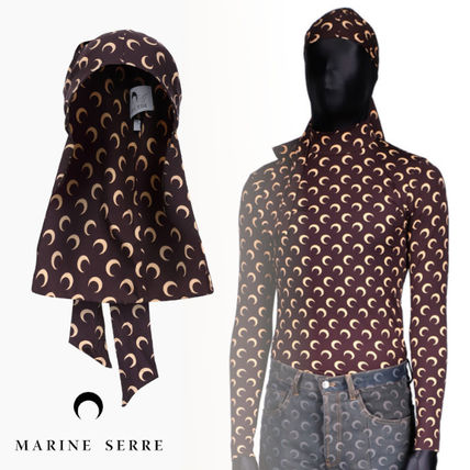 2021SS【MARINE SERRE】All over The Moon Durag AWGE BROWN