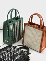 【CHARLES & KEITH】織物トートバッグ/3色展開