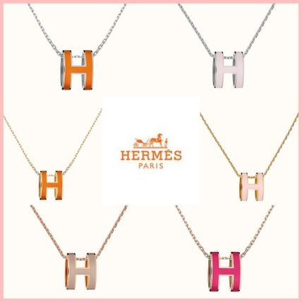 HERMES直営店☆POP H ペンダント♪Silver/Gold/Rose Gold