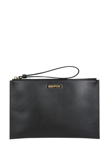 【DSQUARED】FW21「TWIN」レザーポーチ (D SQUARED2/バッグ・カバンその他) 206502_POW0014_015000012124