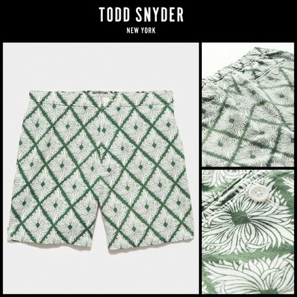 """2021SS最新作!! ☆Todd Snyder☆ 7"""" GEO LEAVES BAHAMA SHORT"""
