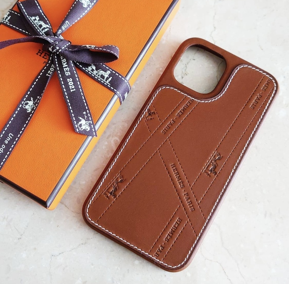 【HERMES】ボルデュック☆iPhone12・12Proケース (HERMES/iPhone・スマホケース) H0007441A34