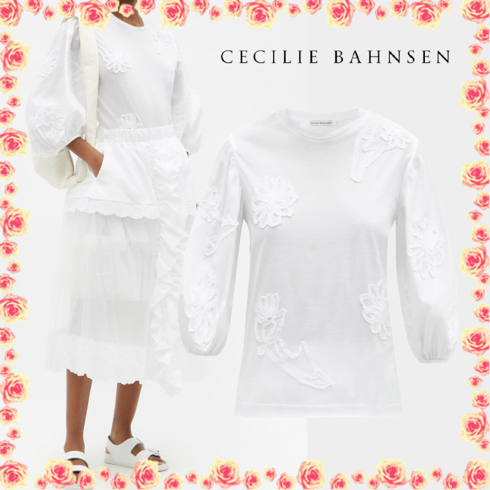 CECILIE BAHNSEN クレイ バルーンスリーブ 長袖 トップス (CECILIE BAHNSEN/Tシャツ・カットソー) 70275575