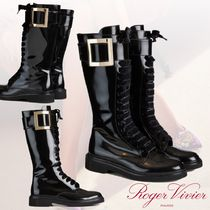 21SS★ROGER VIVIER★Lace Up in Pelle Fibbia Metallo ブーツ