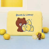【second morning×LINE FRIENDS】BROWN PCポーチ 15インチ