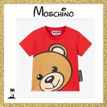 ★MOSCHINO★Baby Teddy コットン Tシャツ/Red 6M-3Y