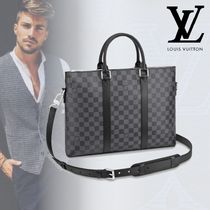 Louis Vuitton アントン・ブリーフケース 2way バッグ ダミエ