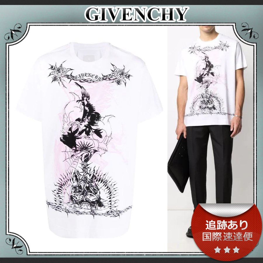 21AW/送料込≪GIVENCHY≫ Gothic graphic ロゴ Tシャツ (GIVENCHY/Tシャツ・カットソー) 70293459