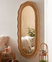 《UO》Malorie Wicker Wall Mirror ラタン 壁掛けミラー/姿見