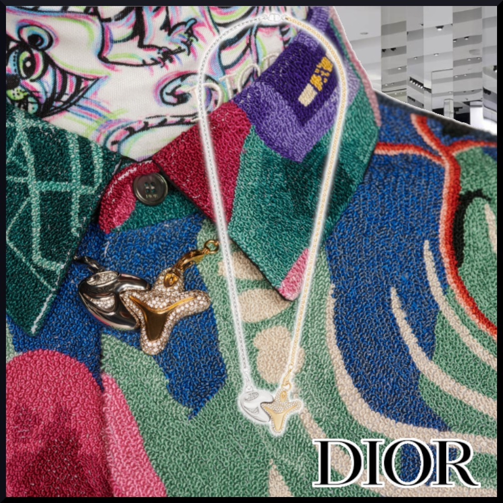 【DIOR】21AW CD AND KENNY SCHARF PENDANT gold ネックレス (Dior/ネックレス・チョーカー) N1434HOMMT_D012