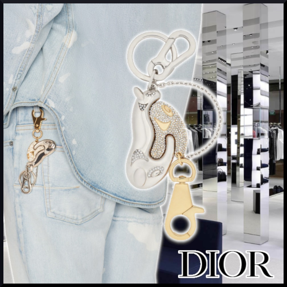 【DIOR】21SS CD AND KENNY SCHARF KEYCHAIN gold キーホルダー (Dior/キーケース・キーリング) V0737HOMMT_D012