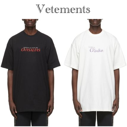 VETEMENTS★Keeping Up With The Gvasalias コットンロゴTシャツ