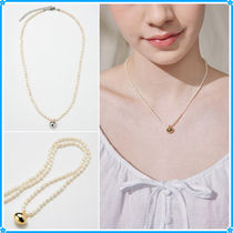 Hei(ヘイ) ネックレス・チョーカー 【Hei】gloss oval pearl necklace〜パールネックレス★2021SU