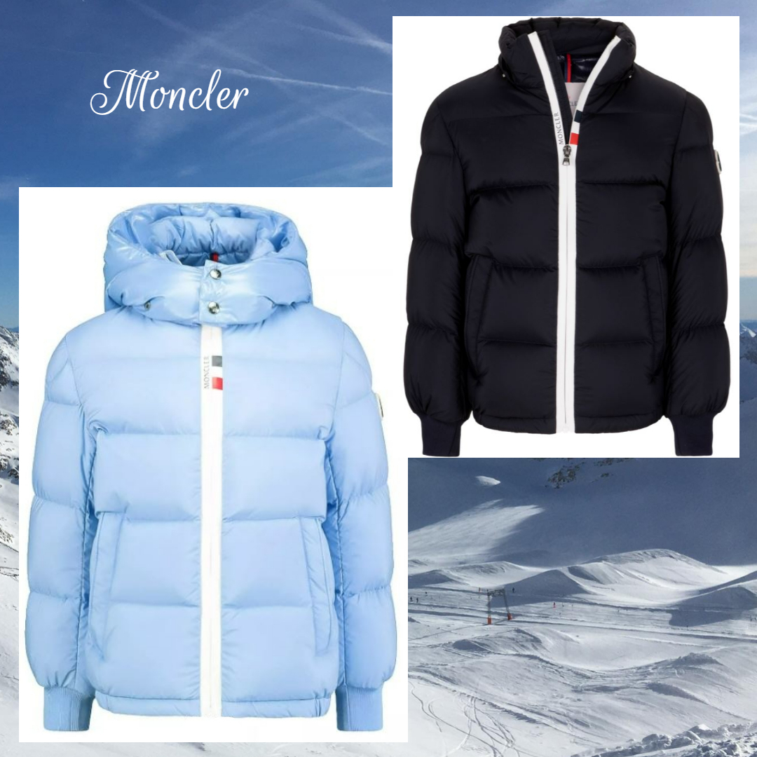 ☆MONCLER☆ コントラストライン・ボーイズダウンHale☆ 4A/6A (MONCLER/キッズアウター) 70348375
