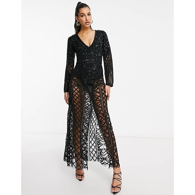 ASOS♡送料込 A Star Is Born exclusive embellished maxi (ASOS/ワンピースその他) asos_20210428_lds05_004186