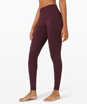 """Wunder Under HR Tight 28"""" Brushed Full-On Luxtreme - Cassis"""