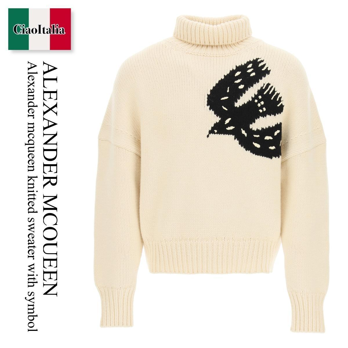 Alexander mcqueen knitted sweater with symbol (alexander mcqueen/ニット・セーター) ALEXANDER MCQUEEN KNITTED SWEATER WITH S  668967 Q1XBW  668967 Q1XBW 9161