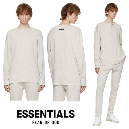 【 FOG Essentials 】Off-White Thermal Waffle Henley シャツ